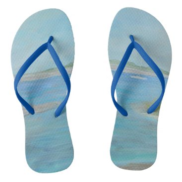 Beach Themed A DAY ON THE WATER Flip Flops