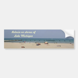 A Day to Relax on the Lake Bumper Sticker