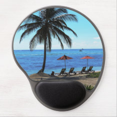 A Day Under The Palm Gel Mouse Pad at Zazzle