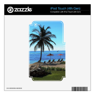 A day under the palm tree iPod touch 4G decals