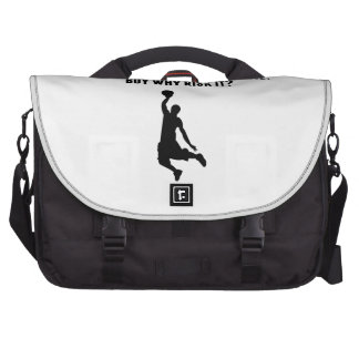 A Day Without Basketball Laptop Bags