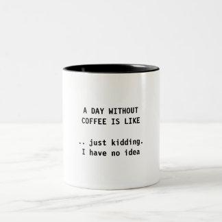A DAY WITHOUT COFFEE - COFFEE MUG