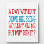 A Day Without Down Hill Skiing Wouldn't Kill Me Photo Plaque