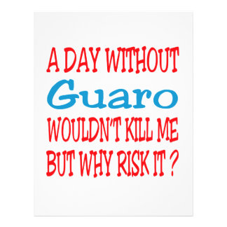 A day without Guaro wouldn't kill me but why risk Letterhead Design