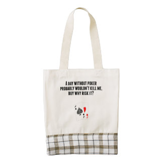 A Day Without Poker Zazzle HEART Tote Bag