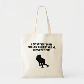 A Day Without Rugby Budget Tote Bag