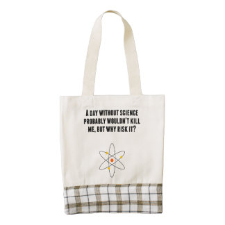 A Day Without Science Zazzle HEART Tote Bag
