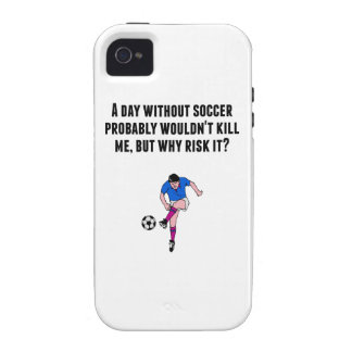 A Day Without Soccer Vibe iPhone 4 Case