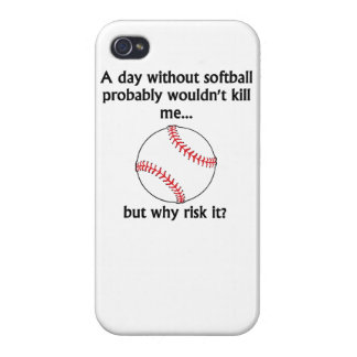 A Day Without Softball iPhone 4 Cover