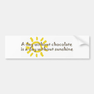 A Day Without Sunshine Car Bumper Sticker