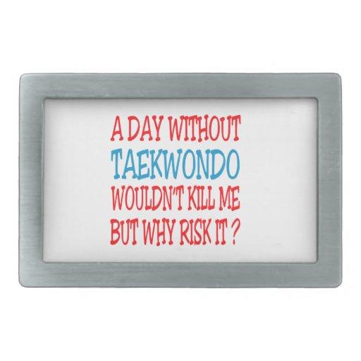 A Day Without Taekwondo. Belt Buckles