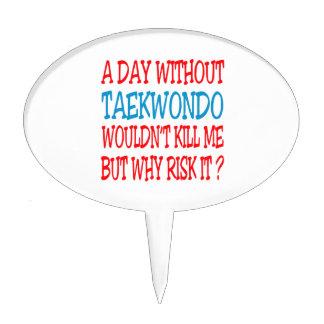 A Day Without Taekwondo. Cake Picks