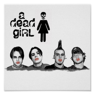 a dead girl band poster