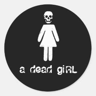a dead girl sticker