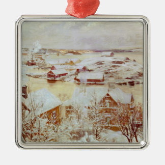 A December Day  c.1893 Metal Ornament