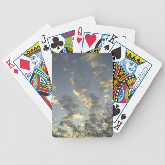 A deck of cards with a relaxing pic.