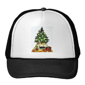 A decorated christmas tree hats
