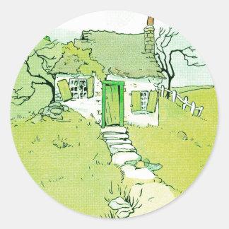 A Decrepit Little House Classic Round Sticker