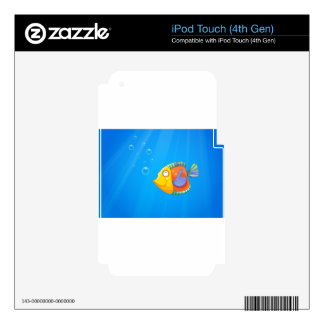 A deep ocean with a fish decal for iPod touch 4G