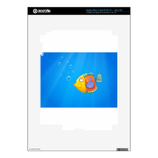 A deep ocean with a fish skin for iPad 3