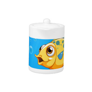 A deep ocean with a yellow fish