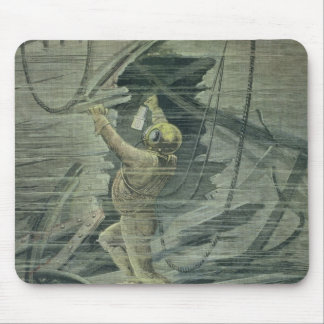 A Deep Sea Diver Looking at the Wrecks Mouse Pad