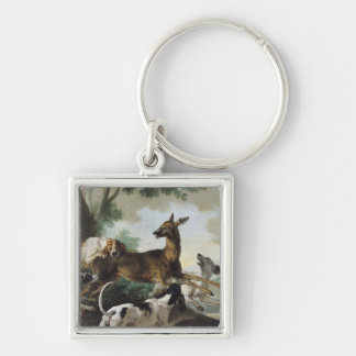 A Deer Chased by Dogs, 1725 Keychain