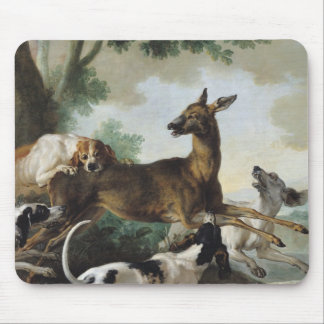A Deer Chased by Dogs, 1725 Mouse Pad