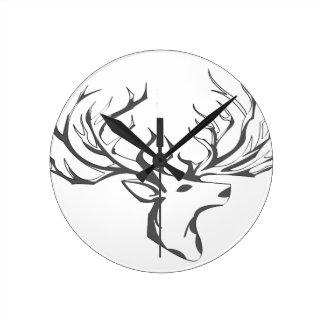 A deer head round clock