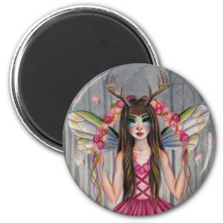 A deer little fairy in the woods magnet