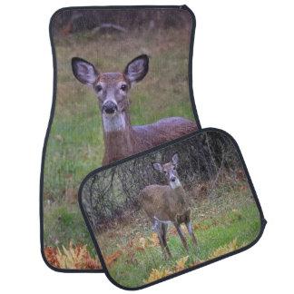 A Deer Meeting Car Floor Mat