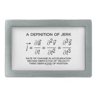 A Definition Of Jerk (Physics Equation Humor) Belt Buckle