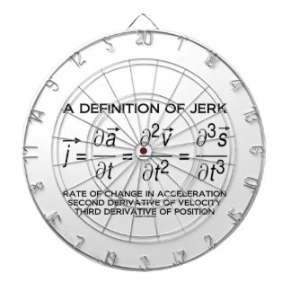 A Definition Of Jerk (Physics Equation Humor) Dartboard