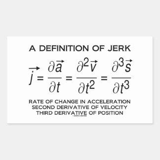 A Definition Of Jerk Physics Equation Humor Sticker