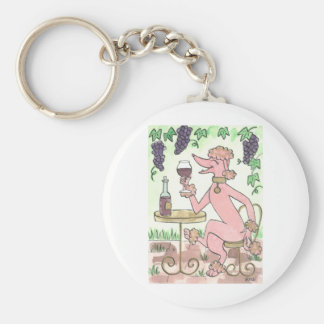 A Delectable Glass of Pinot Noir Basic Round Button Keychain