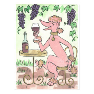 A Delectable Glass of Pinot Noir Postcard