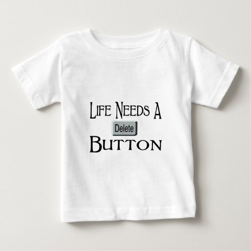 A Delete Button Baby T-Shirt