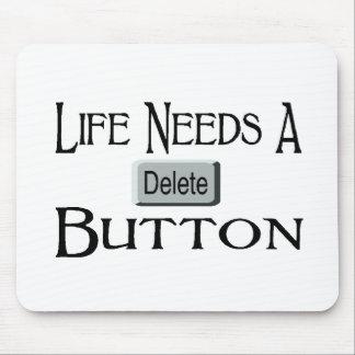 A Delete Button Mouse Pad