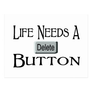 A Delete Button Post Cards