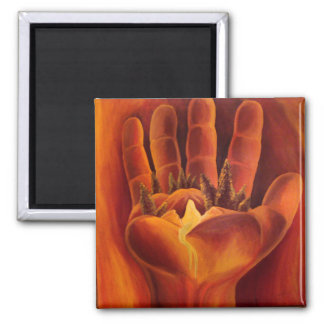 A Delicate Balance 2 Inch Square Magnet