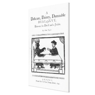 A Delicate Dainty Damnable Dialogue Canvas Print
