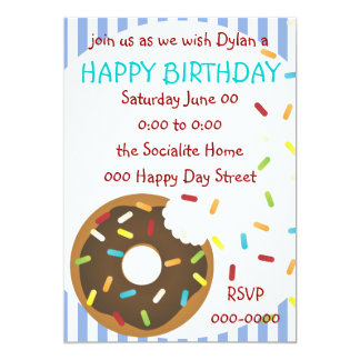 A Delicious Bite of Donut 5x7 Paper Invitation Card