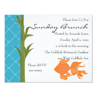 A Delightful Goldfish Card