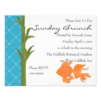 A Delightful Goldfish Personalized Invitations
