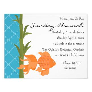 A Delightful Goldfish Personalized Invites