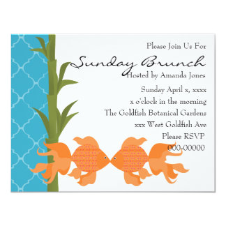 A Delightful Pair of Goldfish Card