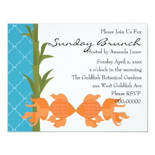 A Delightful Pair of Goldfish Personalized Announcement