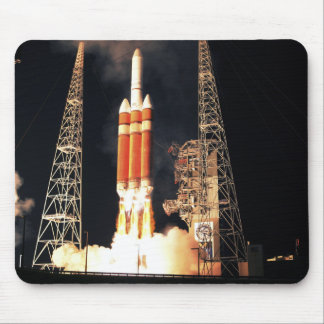 A Delta IV Heavy rocket lifts off Mouse Pad