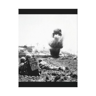 A demolition crew from the 6th Marine_War Image Canvas Print