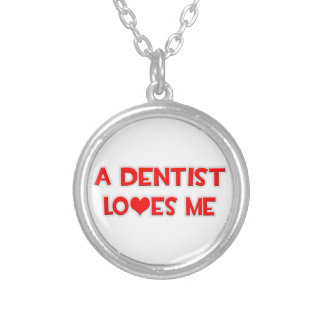 A Dentist Loves Me Silver Plated Necklace